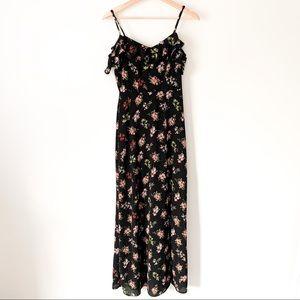 B. Darlin | Black Floral Summer Maxi Dress